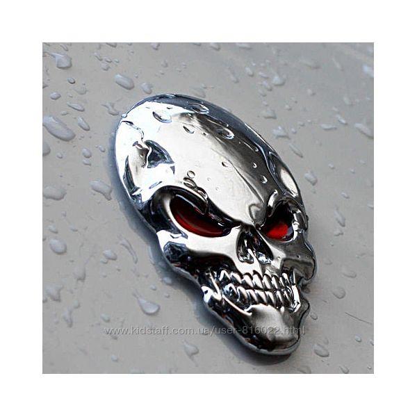 Шильдик наклейка череп скелет
