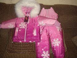 Зимний костюм- комбинезон на девочку от 1 года до 6 лет
