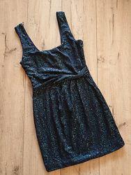 Шикарное вечернее платье в пайетки мини Love Reign размер С S