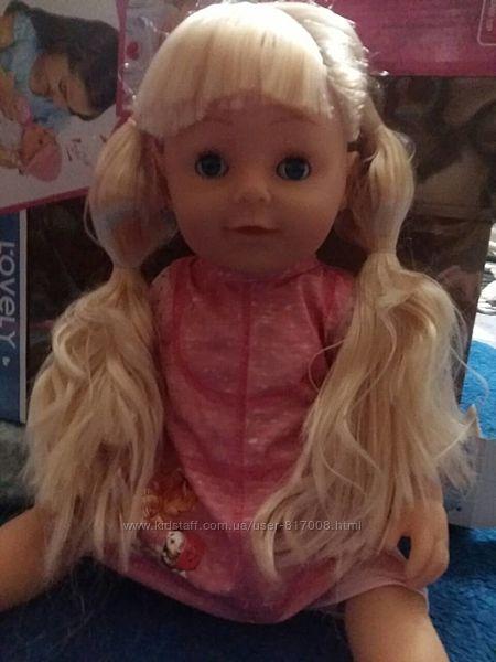 Старшая сестра кукла пупс с волосами Lovely sister аналог беби Борн
