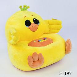 Мягкое кресло детское лягушка цыпленок черепаха божья коровка