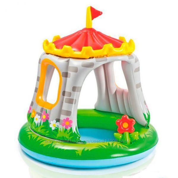 Intex Королевский дворец 57122 детский надувной бассейн Интекс с навесом