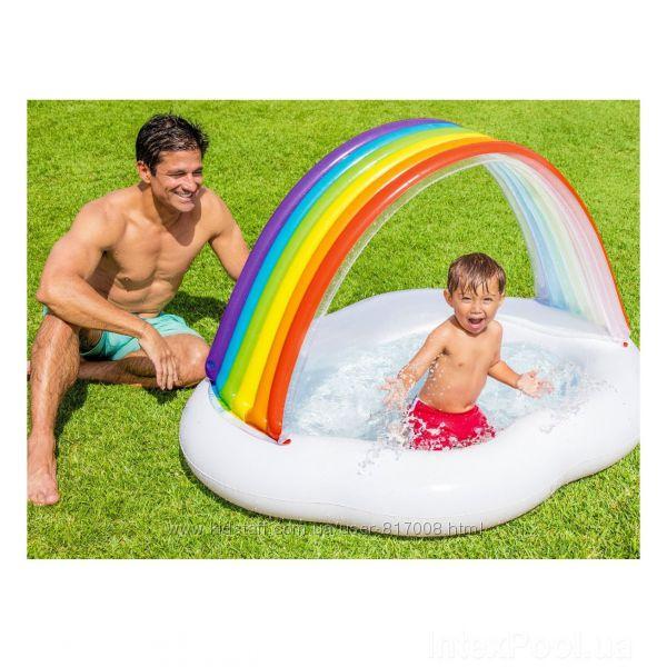 Intex 57141 Радуга Облако детский надувной бассейн Интекс