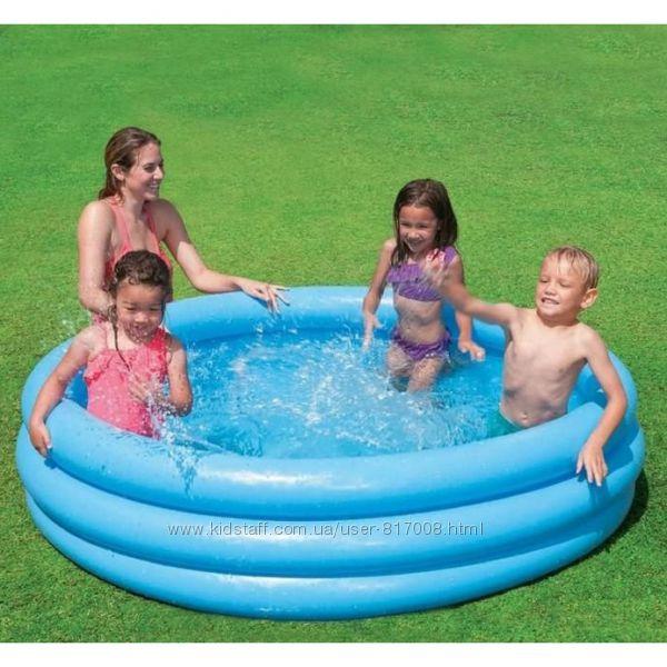 Intex 58426 Синий кристалл детский надувной бассейн Интекс