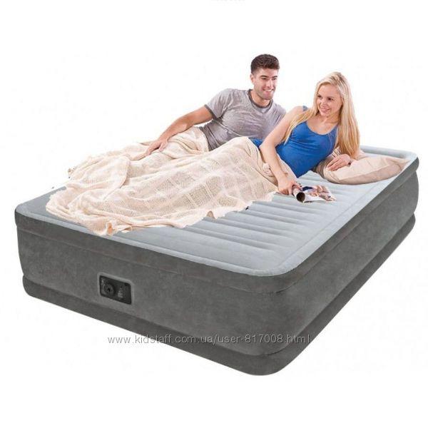 Матрас Интекс Велюр 67770 двухместный надувной с насосом Intex кровать