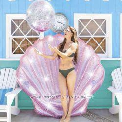 Интекс Розовая ракушка 57257 детский надувной плотик Intex матрас