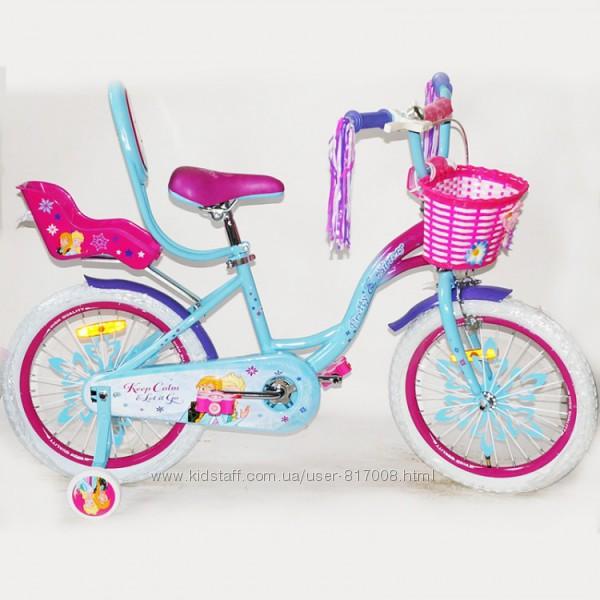 Эльза холодное сердце  20 велосипед для девочки двухколесный