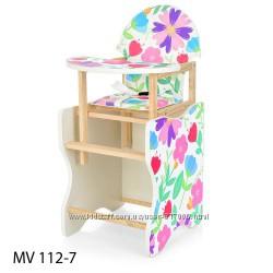 Виваст MV 112 стульчик для кормления 2 в 1 стол детский Vivast