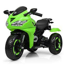 Бамби 3683L мотоцикл детский электро мобиль светящимися колесами