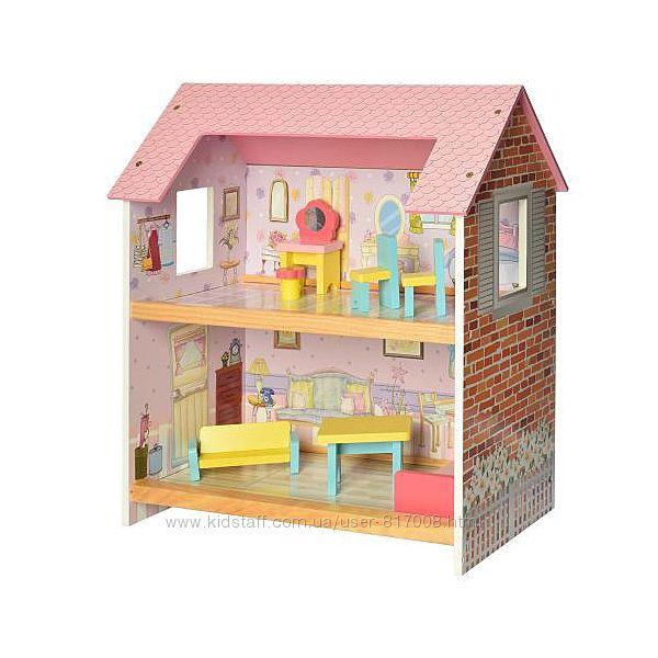 Домик 2048 деревянный для кукол игрушечный