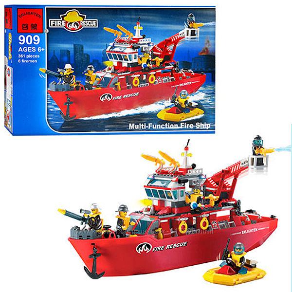 Брик 909 конструктор пожарный корабль Brick  Fire Rescue