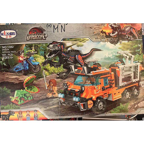 Конструктор Winner 1382 Грузовик для перевозки динозавров Юрский период