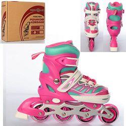 Profi Roller 4122 ролики S 31-34 детские раздвижные светящиеся