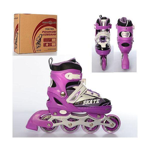 Profi Skate 4123 ролики M 35-38 раздвижные светящиеся колеса