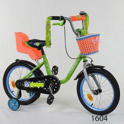 Корсо 04 велосипед 12 16 20 двухколесный детский Corso с багажником