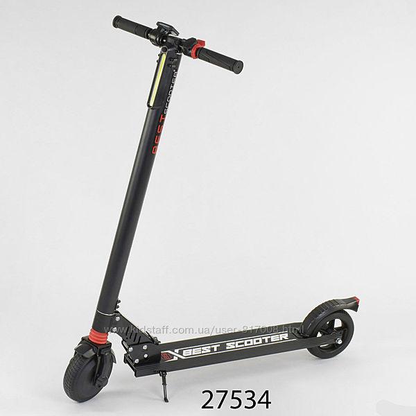 Электросамокат Best Scooter двухколесный складной Бест