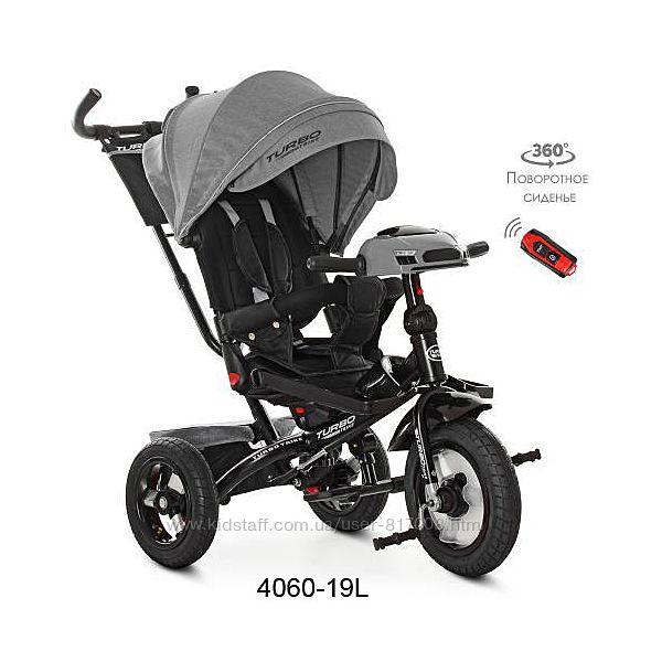 Велосипед трехколесный с поворотным сидением Turbo trike 4060 Лен usb