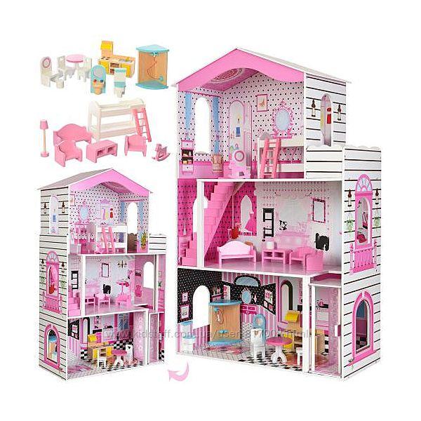 Домик для кукол 2476 деревянный игрушечный дом с мебелью