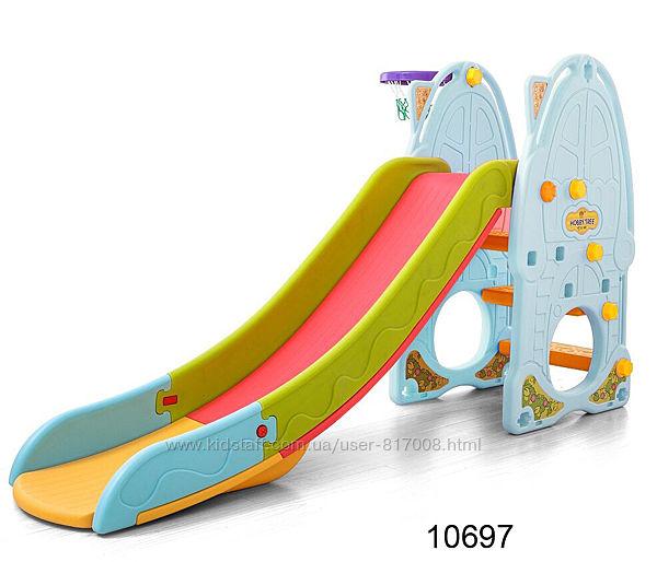 Toti S горка детская пластиковая для площадки с баскетбольным кольцом