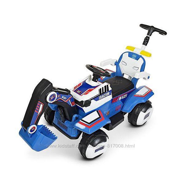 Электромобиль 4321BLR трактор детский экскаватор с подвижным ковшом ручкой