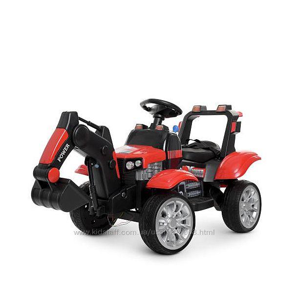 Трактор 4263EBLR детский электромобиль с пультом ковшом экскаватор