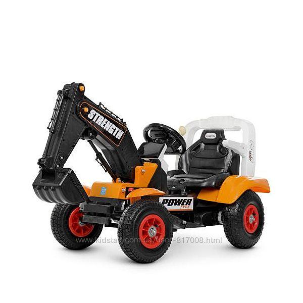Трактор с подвижным ковшом 4260ABLR с надувными колесами электромобиль