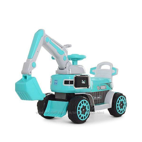 Трактор экскаватор 4068R мобиль на акумуляторе детский с ковшом