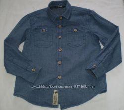 джинсовая рубашка George 5-6 лет 110-116 см 100 котон