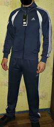 Спортивный костюм Адидас синий эластик размер М