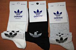 Носки мужские летние Adidas стрейч сетка короткие р.41-45 Турция.