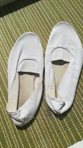 Чешки белые 21 см текстиль