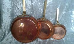 Набор сковородок-медь и бронза