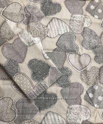 Постельный комплект с сердцами полуторка двуспалка евро семейный