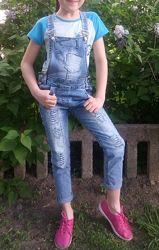 Комбинезон джинсовый, 8 лет