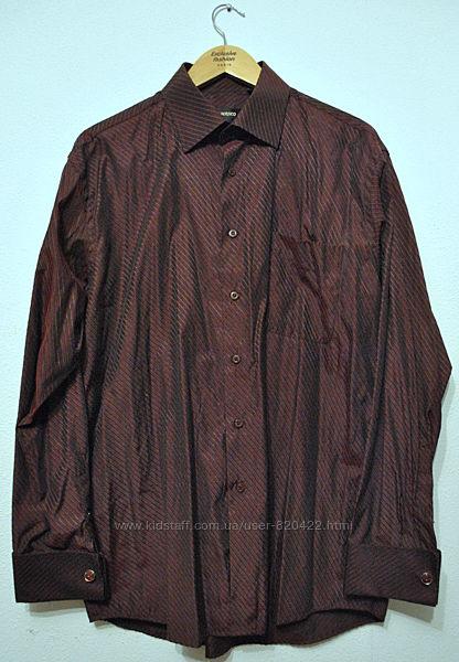 Рубашка мужская под запонки Очень красивая Италия р.41-42 Указаны замеры