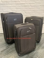 Качественные тканевые чемоданы на 2 колеса Гарантия 1 год