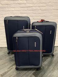 Тканевые стильные чемоданы Verona со съёмными колесами