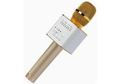 Микрофон для караоке Q9 золотой