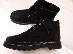 Мужские утеплённые ботинки из натуральной замши