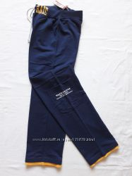 Штаны спортивные JOHN&ROSE, тёмно-синие и белые