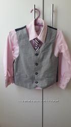 Костюм розовая рубашка, галстук, жилетка 4-5 лет. Gee Jay