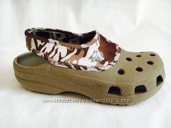 Crocs M3 W5 стильные, цвет хаки. Отличное состояние
