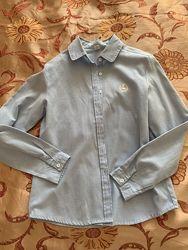Рубашка голубах плотный хлопок XS, S
