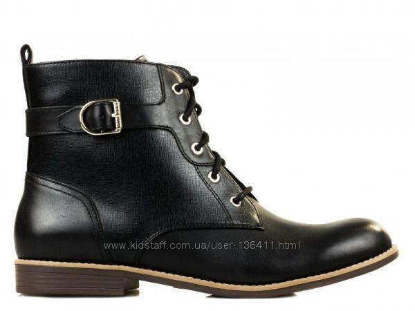 TOMMY HILFIGER, Оригинал. Кожаные, стильные, демисезонные ботинки - 40р