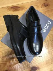 Распродажа. ECCO cohen, Оригинал. Кожаные, школьные туфли - 38р