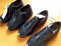 Туфли кожаные F&F School c сайта Asda George две пары  р-ры 32 и 33