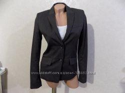 Пиджак серый в полоску фирменный H&M размер 44