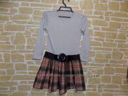 Платье с поясом на девочку 128-134 см