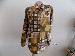 Блузка рубашка на пуговицах фирменная Actual размер 54-56