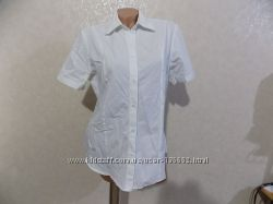 Блузка белая с коротким рукавом фирменная C&A размер 50